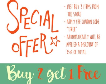 PROMOTION! Buy 2 Get 1 Free! Apply the Coupon: 1FREE