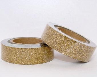 Glitter Washi Tape roll  gold scrapbooking planner supplies - Gift - decoration