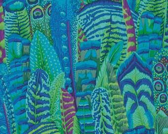 1/2 Yard Feathers Green Philip Jacobs fabric PJ055