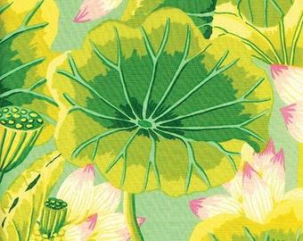 1/2 Yard Lake Blossoms Green  Kaffe Fassett  fabric  GP93