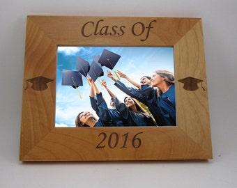 Custom Engraved Alder Picture Frame- Graduation Class