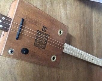 3 String Acoustic / Electric Cigar Box Guitar