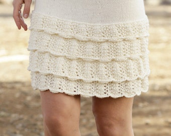 Hand knitted skirt, merino wool and cotton skirt, CHOOSE YOUR COLOR! Knitwear, woman gift, girl skirt, spring skirt.