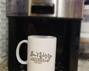 Funny spreadsheet mug