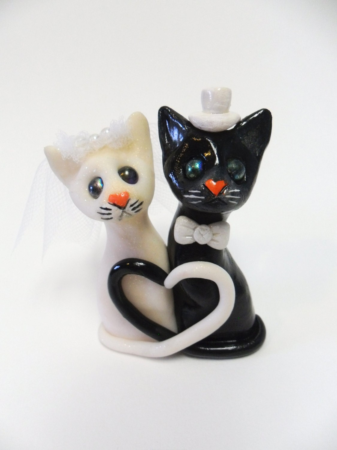 black cat wedding cake toppers black and white cat wedding cake topper polymer clay 11859