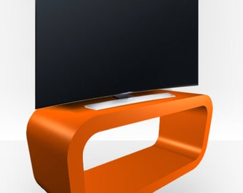 Orange Gloss TV Stand - Hooptamgle