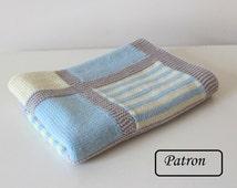 Couverture bébé patron / Knit baby blanket pattern /  baby blanket pattern / knitting pattern for babies