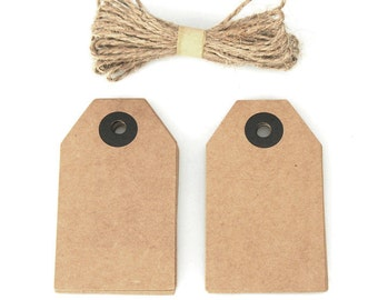 Natural Cardboard Tags, 3-Inch, 20-Piece