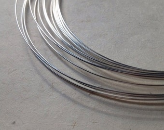 10% off FIVE (5) Feet - 925 Solid Sterling Silver Round 24 Gauge DEAD SOFT Wire - 5 Feet
