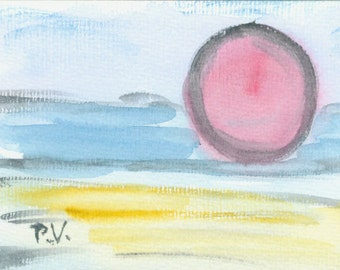 "Watercolor ""Sunset 2"""