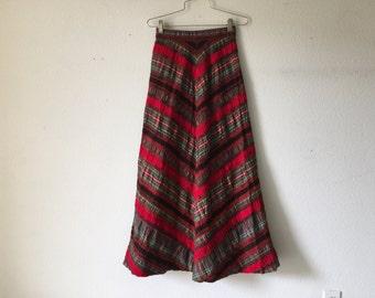 FREE SHIPPING - Vintage Maxi Skirt Summit of Boston