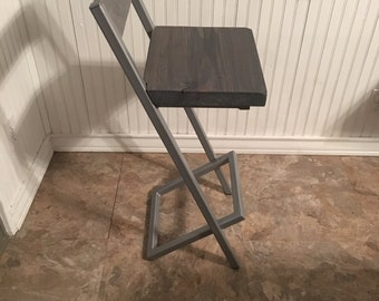 Bar stool with back rest. Modern bar stool with back rest.