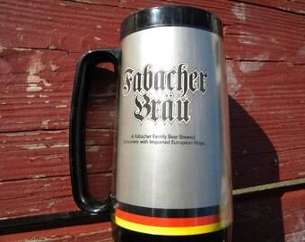Fabacher Brau Beverage Mug : Thermo - Serv - Vintage 1970's