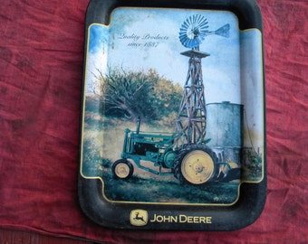 John Deere ( 2 legged deer) Serving Tray.  17'' by 12 '' - Antique - Collectible