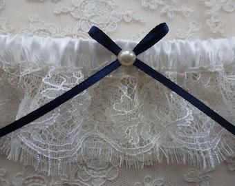 Alice ivory bridal garter/wedding garter
