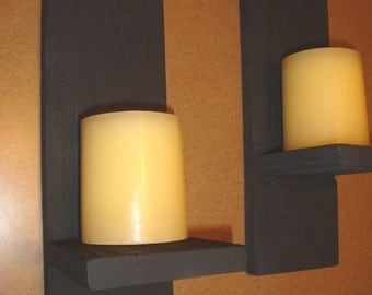 Reclaimed Wood Candle Sconces