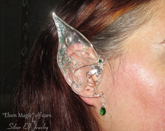 Elven Magic, long elf ears for elf costume, ear jewelry for Elven Wedding, elven ears, elvish jewelry, fairy ears for fairy costume