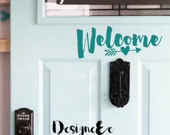 """Welcome Door Vinyl - 10"""" by 4"""""""