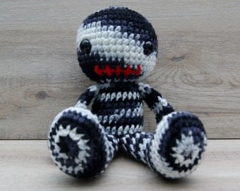 Crochet Zombie, Amigurumi Zombie, Zombie Doll, Stuffed Zombie, Zombie Stuffed Toy, Zombie Stuffie, Zombie Toy