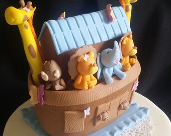 Noah's Ark Baby Shower, Noah's Ark Cake Topper, Noah's Ark Birthday, Noah's Ark Cake, Noah's Ark Nursery, Noah's Ark Animals, Arks Figurines