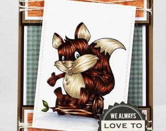 We Always Love To Camp little fox card