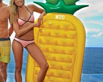 Large Inflatable Pineapple Float with Monogram