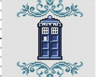 The Tardis - Doctor Who Cross Stitch Pattern - Instant Download