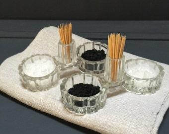 French Vintage Salt, Pepper & Toothpick Holder
