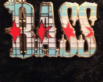 Chi Town Bass pin - Summer camp, Electric Forest, Zeds Dead, Excision, Bassnectar, Griz, NYE, shirt, clothing.