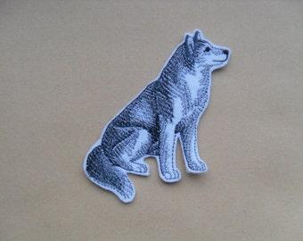 Siberian Husky / Patch / iron on Patch /