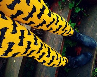 Super Hero Bats Leggings pants Ready to Ship L/XL