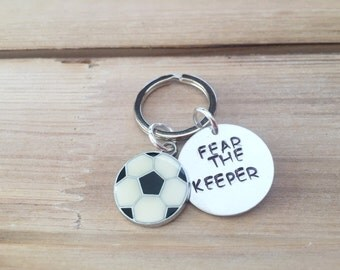 Soccer Goalie Keychain - Fear the Keeper;) - Soccer Mom, Soccer Dad