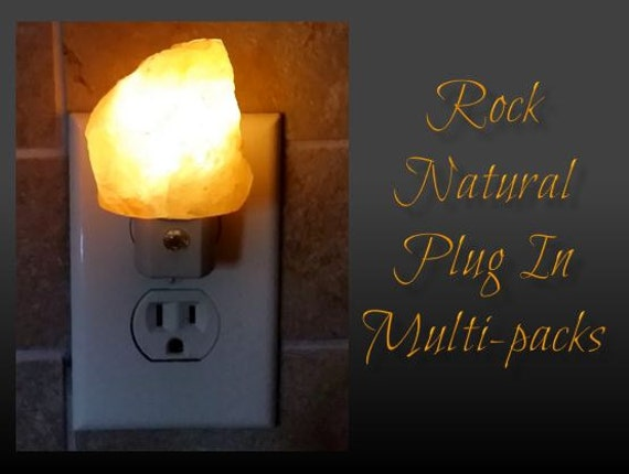"Multi-Pack Mini Rock Natural Himalayan Salt Night Light from our ""Rock the Night™"" Plug in collection"