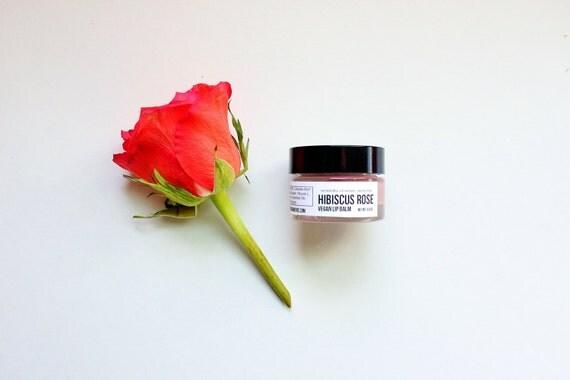 HIBISCUS ROSE // Handmade // All Natural // Vegan // Tinted // Lip Balm // 0.5 oz