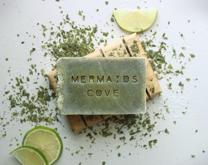 MERMAIDS COVE // Handmade // All Natural // Vegan // Lime // Tangerine // Sea Salt // Soap