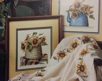 Sunflowers in Cross Stitch
