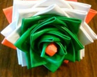 3 Color Duct Tape Flowers