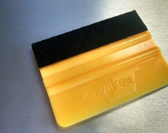 """Oracal 4"""" Yellow Squeegee - Vinyl Application Tool - Vinyl Squeegee - Vinyl Tool for Decals Graphics"""