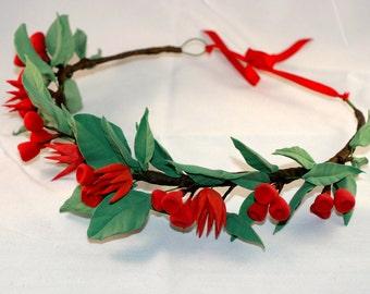 Boho style Christmas themed  Head wreath