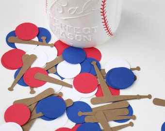 Baseball Confetti, Baseball Birthday Party Confetti, 200 pieces