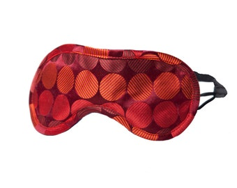 Silk Eye Mask - Red Dot