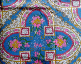 Vintage French Moroccan Design Fabric 2 Yards Unused