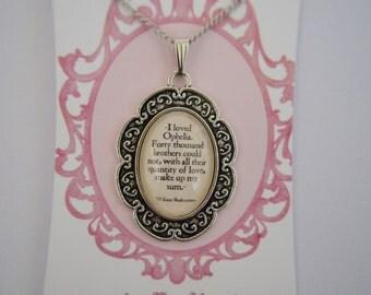William Shakespeare Hamlet quote necklace