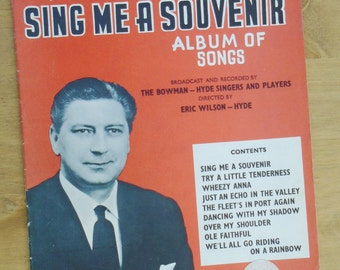 Sing me a souvenier album of songs sheet music Campbell Connelly vintage sheet music
