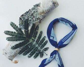 Indigo Neckerchief | Hand Dyed Silk