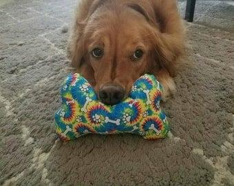 Hippy Dog Bone Squeeker Toy