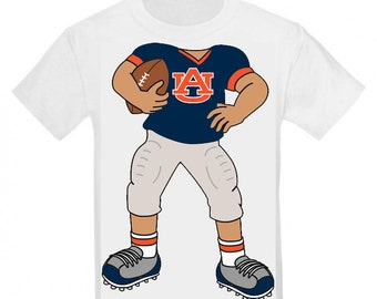 Auburn Tigers Heads Up! Football Player Baby T-Shirt