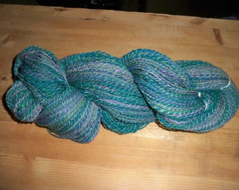 Hand-spun Merino and Silk Yarn
