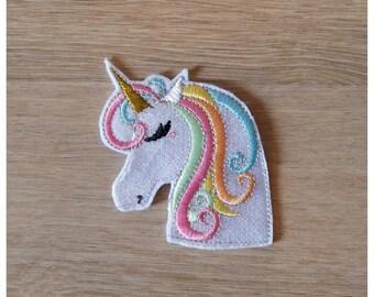 Crest Patch sweet Unicorn 6.3 cm wide