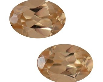 Yellow Garnet Loose Gemstones Set of 2 Oval Cut 1A Quality 6x4mm TGW 0.90 Cts.